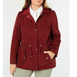 Charter club NWT maroon rain jacket